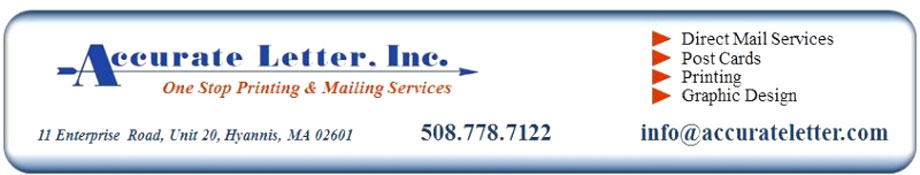 Mailing Services on Cape Cod